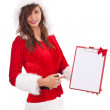 Christmas woman with an empty letter — Stock Photo #9203850