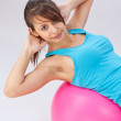 Woman with fitness ball — Stock Photo #9203972