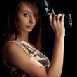 Girl holding gun — Stock Photo #9203996