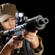Young soldiers alluring — Stock Photo #9204066