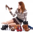 Woman and shoes — Foto Stock