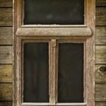 Grunged wooden window — Stock Photo