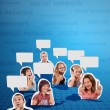 Stock Photo: Social network concept 2