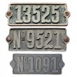 Old metal numbers — Stockfoto