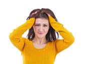 Closeup of upset woman — Stock Photo