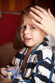 Portrait of a sad boy — Stock Photo