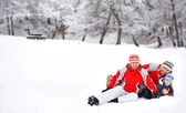 Winter activities — Stock Photo