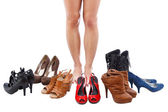 Choose shoes — Stock Photo