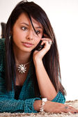 Woman with a cell phone — Stock Photo