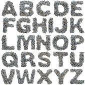 Alfabet śruby — Zdjęcie stockowe