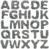 Schrauben-alphabet — Stockfoto