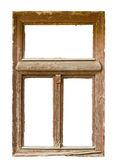 Grunged fenêtre en bois — Photo
