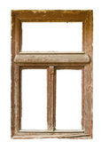 Grunged houten venster — Stockfoto