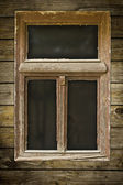 Grunged wooden window — Stock Photo