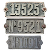 Old metal numbers — Stock Photo
