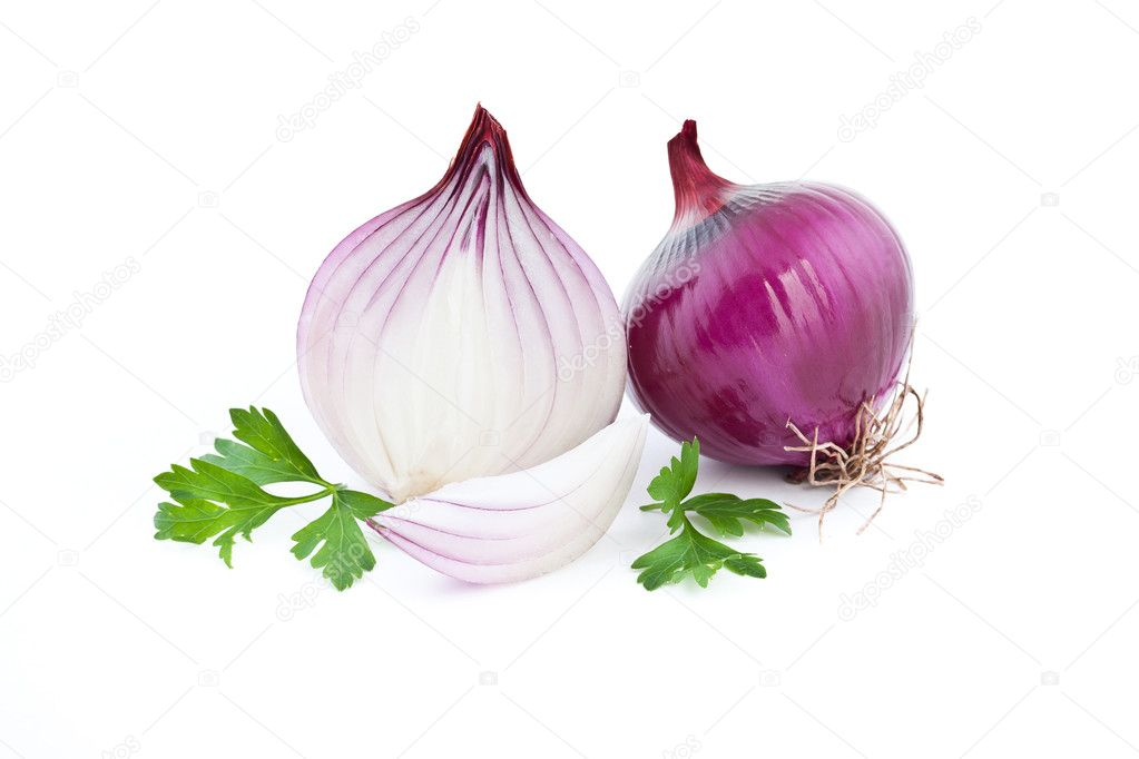 Red onion on white background — Stock Photo #9204238