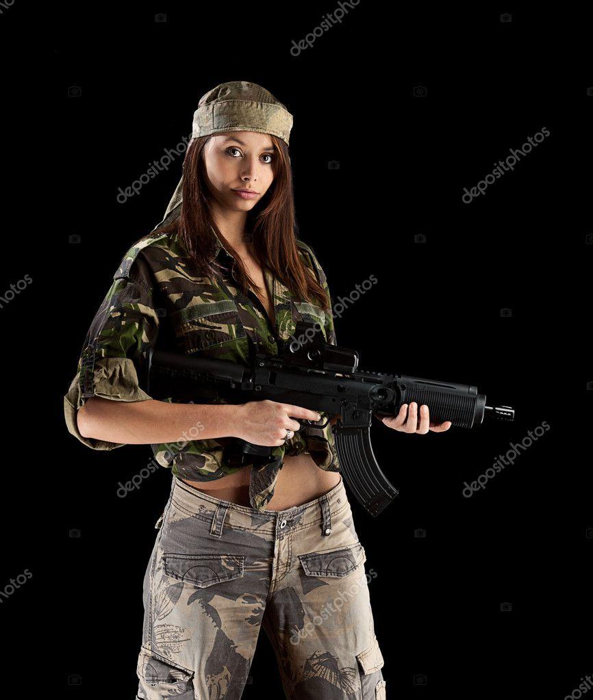 Сексуальные девушки в военной форме 12 фотография