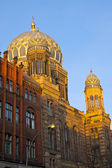 The beautiful New Synagogue in Berlin — Stock Photo