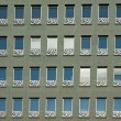 Green facade of a building — Stock Photo