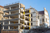 Demolition of a building — Stock Photo