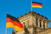 German flags at the Reichstag — Stock Photo