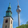 TV Tower and church — Foto de Stock