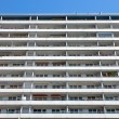 Apartment building in Berlin with a blue sky - ストック写真