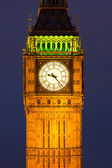Clocktower with Big Ben at night — Stock Photo
