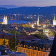 Zurich at night — Stock Photo