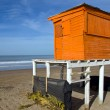 Orange lifeguard tower — Stock Photo