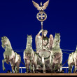 The Quadriga at night — Stockfoto