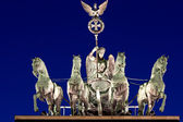The Quadriga at night — 图库照片