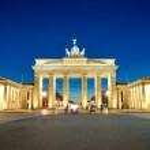 The illiminated Brandenburg Gate — Stock Photo #9400437