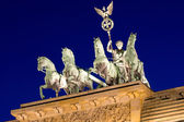 La quadriga in cima al brandenburger tor — Foto Stock