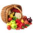 Fruit and vegetable in basket - Stock Photo