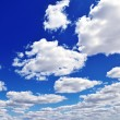 White fluffy clouds — Stock Photo #8331900