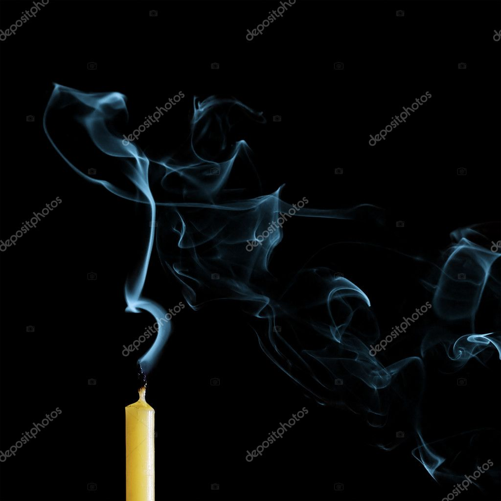 Candle isolated on a black background — Stock Photo #8887685