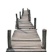 Ahşap yaya köprüsü — Stok fotoğraf