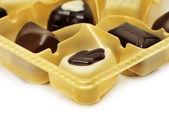 Chocolates in box — Stock Photo