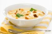 Leek, potato and celery soup — Stock Photo