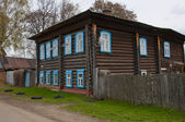 The wooden dwelling house — Stock Photo