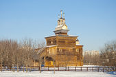 Old Wooden Russian Church in Kolomenskoye — 图库照片
