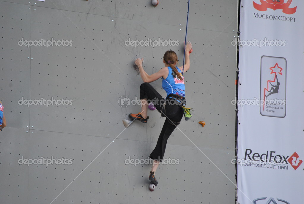Nternational championship on sport climbing at VVC — Stock Photo #9413401