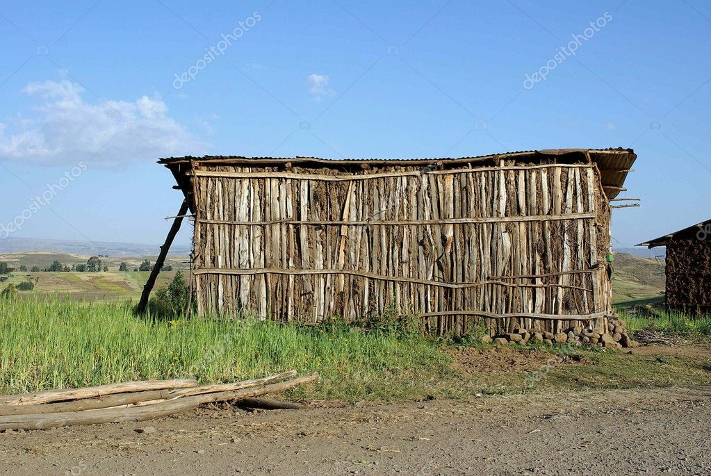 A traditional African house in Ethiopia — Stock Photo #9210039