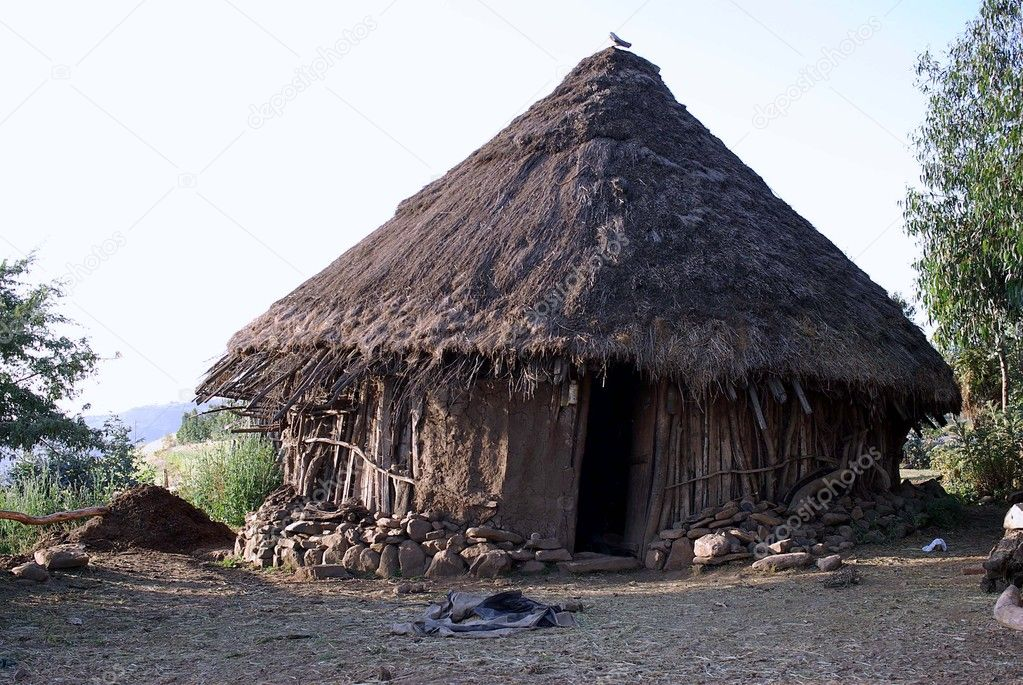 Traditional African hut in Ethiopia — Stock Photo #9210062