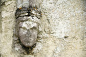 Old wall detail carved relief — Stock Photo