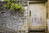 Garden gate dry stone wall cotswolds — Stock Photo