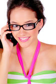 Cell Phone Girl — Stock Photo