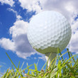 Golf Ball and Sky — Stock Photo