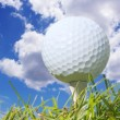 Golf Ball and Sky — Stock Photo #9119117